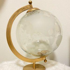 Brass and glass globe
